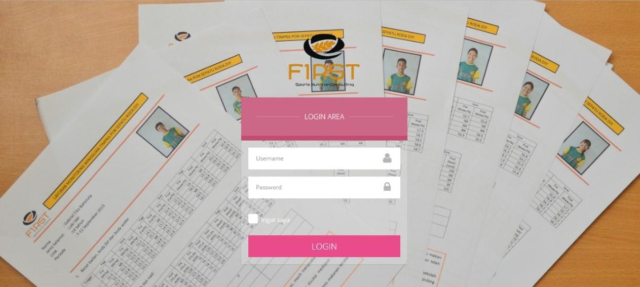 front page aplikasi