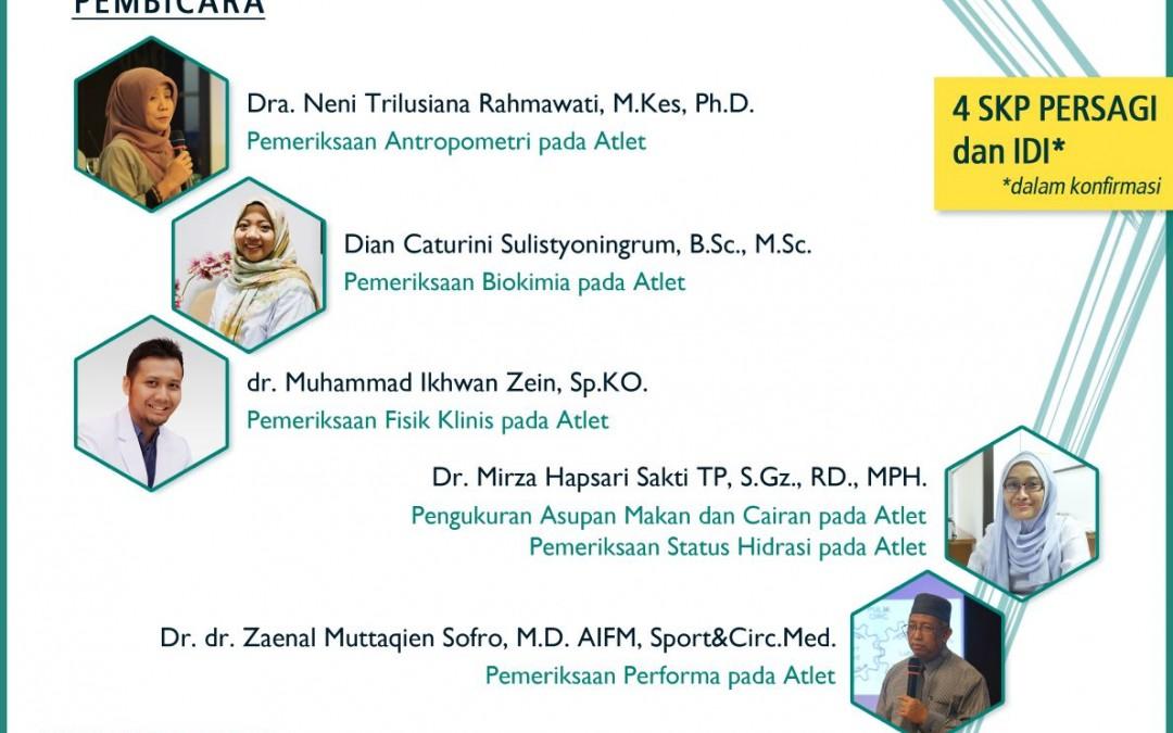 [UPDATE] The 2nd Sport Nutrition Short Course & Workshop